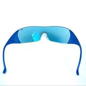 Dior Accessories - Christian Dior Blue iridescent shield sunglasses